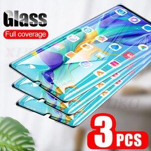 Image 1 - 3Pcs 9 שעתי מזג זכוכית עבור Huawei P20 פרו P30 P10 לייט P חכם 2019 מלא מסך מגן עבור כבוד 9 10 20 לייט 8X זכוכית סרט