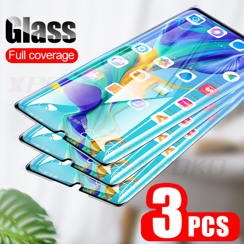 3Pcs 9H Tempered Glass For Huawei P20 Pro P30 P10 Lite P Smart 2019 Full Screen Protector For Honor 9 10 20 Lite 8X Glass Film