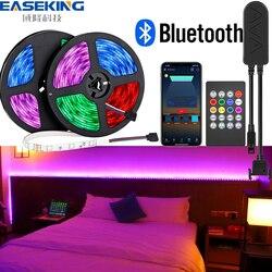 Tira de luces led de 20m, 15m, bluetooth, tiras de luz led, dormitorio, 32 pies, 50 pies, bluetooth, música con control remoto, enchufe US, UK, EU y AU