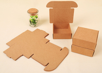 1000pcs Brown kraft paper cardboard box carton soap paper box brown paper gift packaging paper box