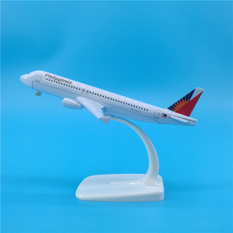 16cm Airplane Model Philippines Airbus A320 Philippine Airlines Simulation Metal Diecast Alloy Plane Kids Toys image