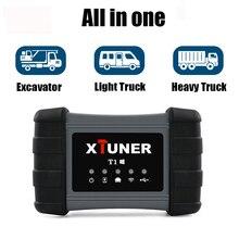 Xtuner T1 Heavy Duty משאית אבחון סורק ABS כרית אוויר DPF OBD2 סורק עבור משאיות דיזל OBD אבחון סריקת כלי + tablet