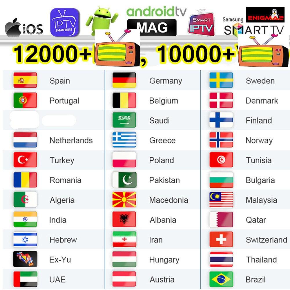 4K Iptv Sweden Smart Iptv Subscripton M3U List Germany Arabic Poland Greek Iptv Spain Portugal Belgium Canada Czech EX-YU Ip Tv