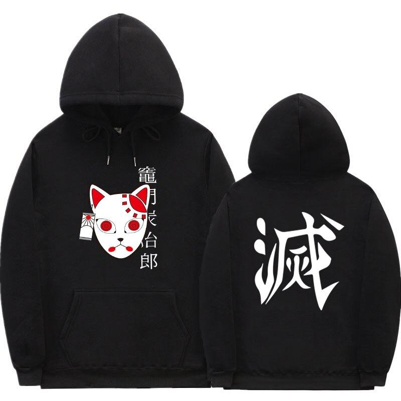 Anime Demon Slayer Hoodie Streetwear japanese Pullover Sweatshirt Tanjiro Kamado Costume Hoodies Harajuku Sudadera Hombre