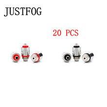 20 bobine di pz/lotto per JUSTFOG Q16 P16A bobina 1.2ohm & 1.6ohm vestito organico giapponese della bobina del cotone per Q16 Q14 S14 G14 C14 starter kit