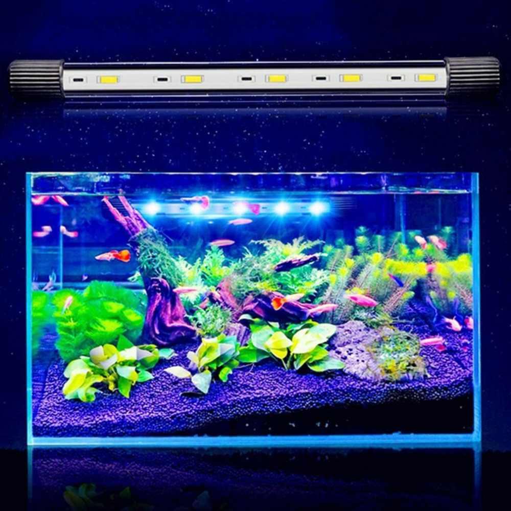 Acuario luz LED tanque de peces anfibio Alta Luz LED luz sumergible lámpara impermeable copa de succión Dropshipping