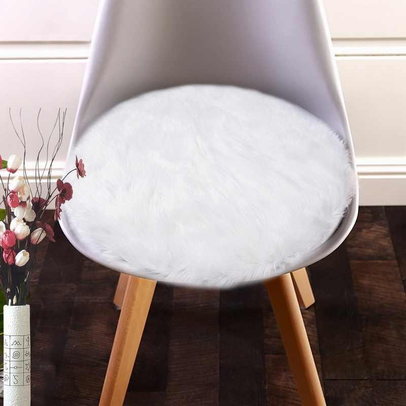 DIDIHOU ורוד רך פו פרווה שטיח סלון מלאכותי כבש שטיחים חדר שינה כיסוי מזרן חג המולד דלת עגול שטיחי שטיחים