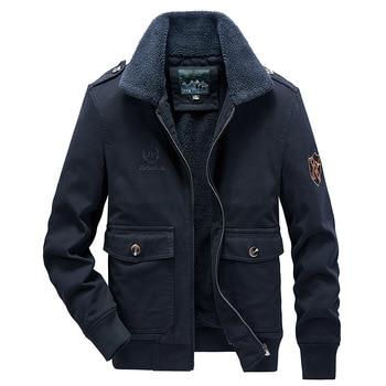 Mens Autumn Winter New Cotton Jacket  Plus Velvet Thick Warm Jackets Casual Coat Fashion Clothing Trends