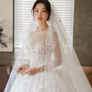 Image 4 - 2020 Rushed Celebrity Dress Wholesale 2020 New Main Light Dress Trailing Star Luxury Women Long Sleeve, Little Dream Bride Yarn