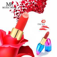 MUSIK ROSE 2019 Europa und Amerika Frauen Seidige Matte Lippenstift Make-Up Samt Matte Oberfläche Einfach Zu Tragen Wasserdicht Lip Tint geschenk