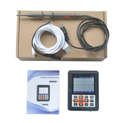O120 DSO338 Portable 30MHz 200MSa/s Mini Portable IPS LCD Digital Oscilloscope Charging measuring