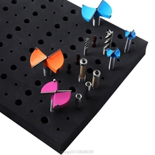 Storage-Holder Brill Bits Organizer Tray for 1/4'' Shank Milling Cutters D15 20 110-Holes
