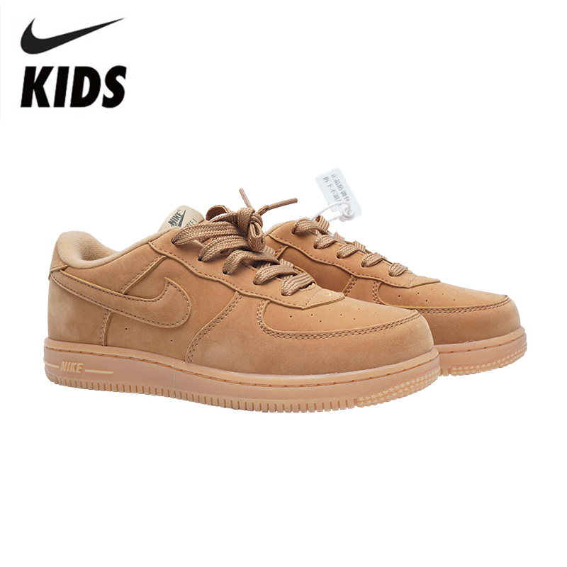 NIKE FORCE 1 Original Kids Shoes Comfortable Children Shoes Lightweight Skateboarding Shoes Outdoor Sports Sneakers #BQ8274