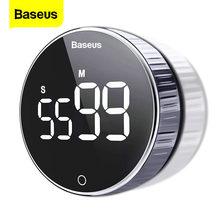 Baseus LED minuterie de cuisine numérique pour la cuisson douche étude chronomètre réveil magnétique électronique cuisson compte à rebours minuterie