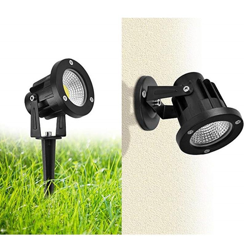 LED COB Garden Lawn Lamp Light 220V 110V DC12V Outdoor LED Spike Light 3W 5W 7W 10W Path Landscape Waterproof Spot Bulbs