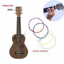 4-6 pz/set arcobaleno di Nylon colorato Ukulele corde durevole parte di ricambio per Ukulele chitarra strumento musicale accessori