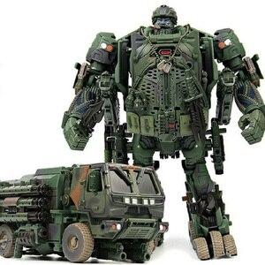 Image 3 - التحول روبوت WJ M02 التمويه الدخان المخبر نماذج من الشاحنات عمل الشكل سبيكة نموذج جمع اللعب الهدايا