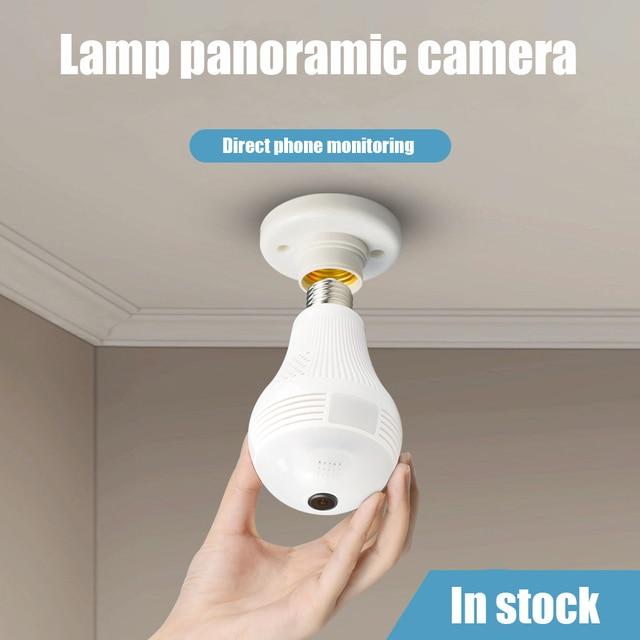 مصباح إضاءة كاميرا واي فاي لامبادا واي فاي 960P 1080P مصباح IP كاميرا 360 لاسلكية بانورامية أمن الوطن CCTV عين السمكة أمن الوطن