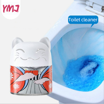 1 butelka środek czyszczący do wc magiczna automatyczna toaleta spłukiwana środek czyszczący do wc pomocnik niebieski czyszczenie bąbelków dezodoryzuje łazienka toaleta Cleaner tanie i dobre opinie Tablet 1 pc 80 ml