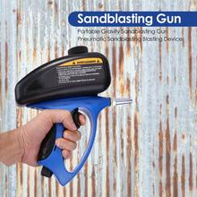 Pistola de pintura en aerosol tipo gravedad, chorro de arena, herramienta de pulverización, Arma de chorro de arena dedicada a todo tipo de metales pequeños y ligeros