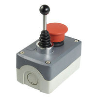 240V 3A Momentary 2 Direction Joystick Red Mushroom Push Button Switch Station