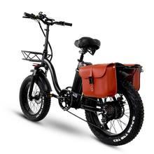 Y20 dobrável e-bike bicicleta de neve, 750w motor, 48v 15a/20a/24a bateria, 20 Polegada mountain bike bicicleta gorda, pedal auxiliar bicicleta com cesta
