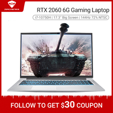 Machenike T90 PLus do gier laptop 2020 i7 10750H RTX 2060 6G 17.3 cali ekran 144Hz Ultra border Intel notebook gaming copmuter