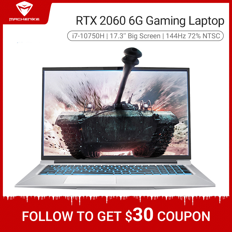 Machenike T90-PLus gaming laptop 2020 i7 10750H RTX 2060 6G 17 3 inches screen 144Hz Ultra border Intel notebook gaming copmuter
