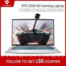 Machenike T90 PLus oyun dizüstü 2020 i7 10750H RTX 2060 6G 17.3 inç ekran 144Hz Ultra sınır Intel dizüstü oyun bilgisayar