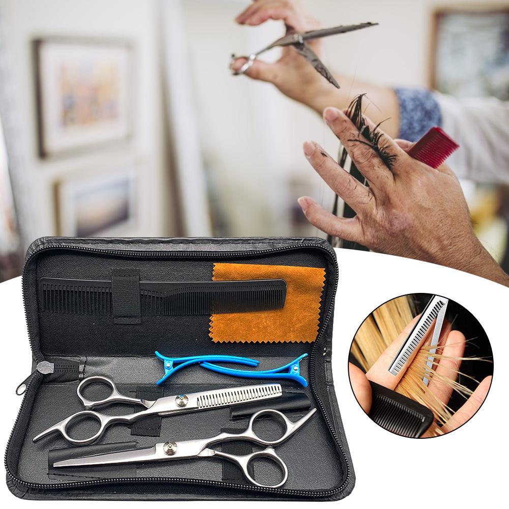 Professional Hairdressing Scissors Kit Hair Cutting Scissors Set Hair Scissors Tail Comb Hair Cape Hair Cutter For Men Women