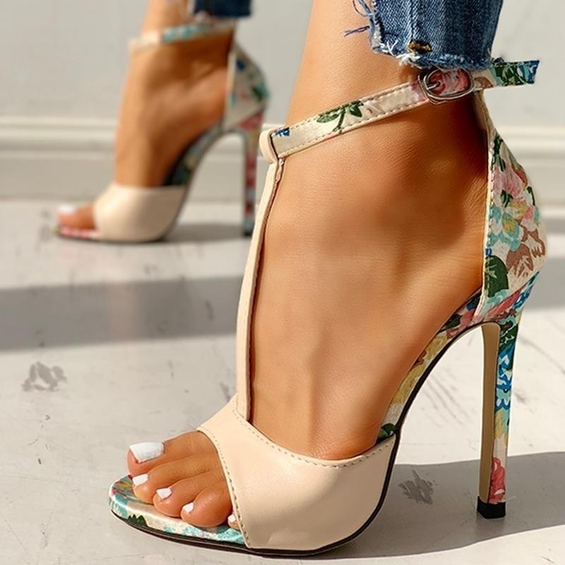 Women Fashion High Heels pump Summer <font><b>Sexy</b></font> Exquisite <font><b>shoes</b></font> Ladies Increased Stiletto women <font><b>shoes</b></font> Super High Heel Sandals pump image