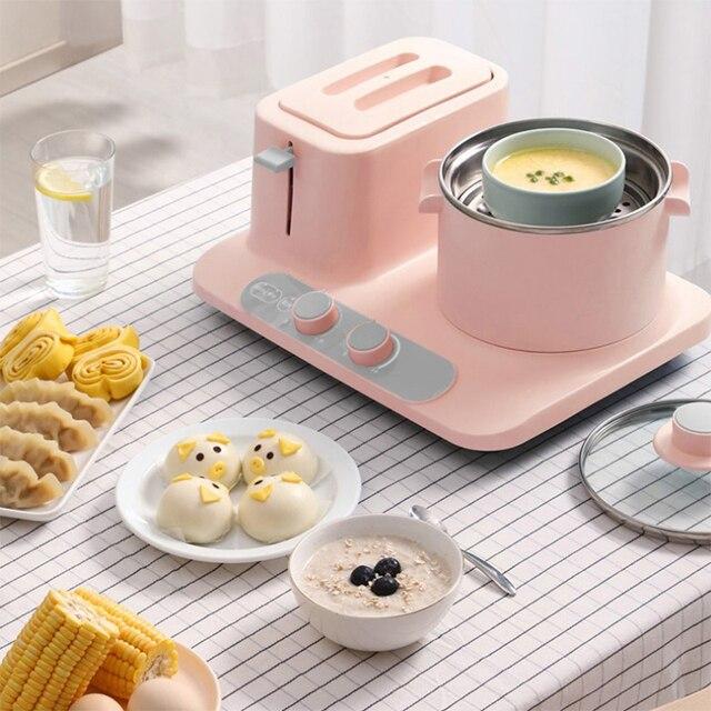 Electric three-in-one toaster Home Mini Electric Steamer, Breakfast Machine 2