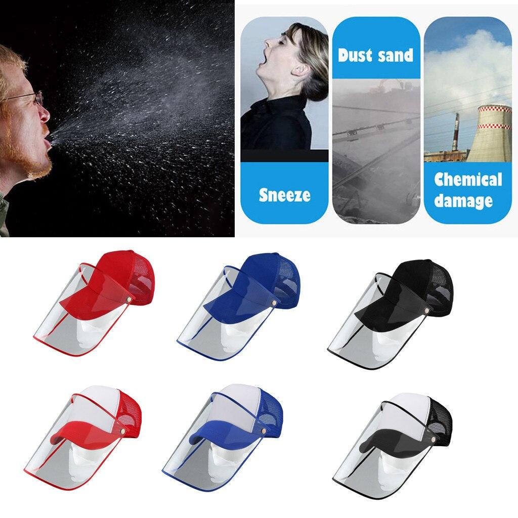 40^Anti  Hat Anti-spit Protective Peaked Hat Dustproof Cover Baseball Cap Mask Adjustable Anti-fog Mascarillas маска маски 마스크