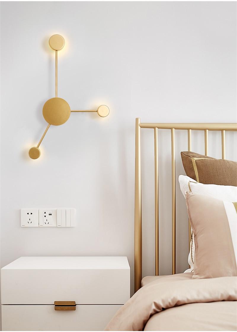 Nordic simples lâmpada de parede moderna sala