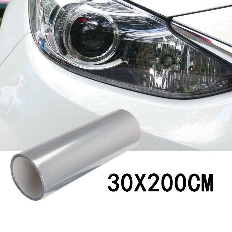 30 см Автомобильная прозрасветильник защитная пленка бампер капот защита краски головсветильник свет защитная пленка виниловый рулон