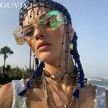 Rimless Square Sunglasses Women 2020 Gradient Rectangle Sunglasses Fashion Sunglasses Brand Designer Eye wear  3