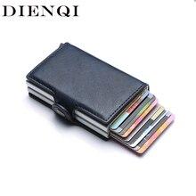 Rfid Блокировка защита для мужчин id кредитный держатель для карт кошелек кожаный металлический алюминиевый бизнес-чехол для банковских карт кредитница