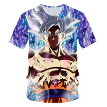 2019 New dragon ball Super Saiyan Vegeta 3d print Kids T shirt Japan Anime summer fashion Children t