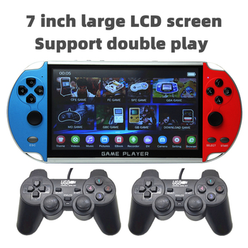 CZT 7-inch Colorful double player game console built-in 9900 games support arcade/neogeo/gbc/snes/fc/md multi-emulator mp3/mp4 1