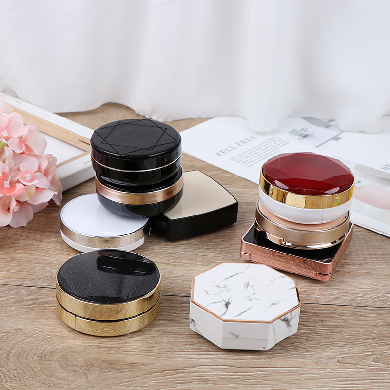 15ml Empty DIY Air Cushion Puff Box BB Cream Container Dressing Case With Air Cushion Sponge Powder Puff And Mirror