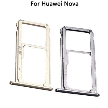10PCS New For Nova SIM Crad For Huawei Nova Sim Card Tray Holder Slot Adapters Replacement Parts