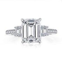 Женские свадебные кольца из серебра 925 пробы с тремя камнями