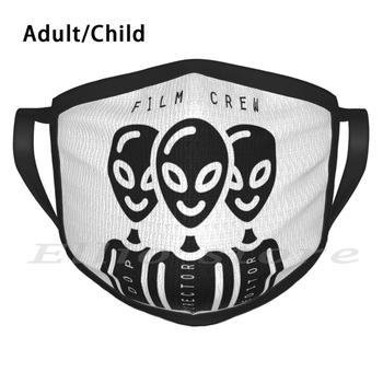 Film Crew Print Washable Anti Dust Scarf Mask Film Crew Movie Camera Filmmaking Funny Cinema Director Filmmaker Sci Fi image