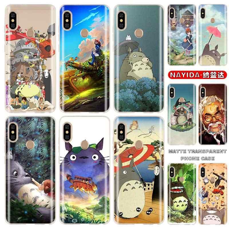 Telefoon Case Voor Xiaomi Redmi 4A 4X 5A 6A 7A 8A S2 6Pro Note 8 7 6 5 Pro Soft gevallen Studio Ghibli Ghiblies Totoro Neighbor Fundas