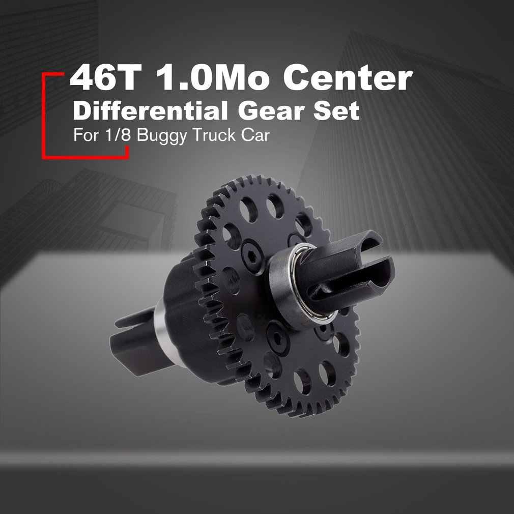46T 1.0Mo Center Differentieel Tandwiel Set Voor ZD Racing 8009 DF-Modellen 6684 1/8 Buggy Truck Truggy SCT RC Auto Onderdelen