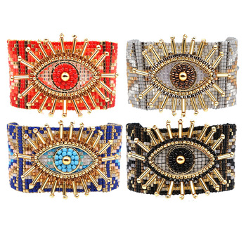 WT-B547 Turkish evil eye bracelet fashion jewelry Japan Miyuki Beads Bracelet Handmade Woven Bracelet fashion bracelet 5PCS/lo фото