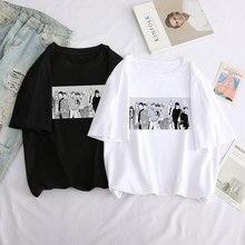 Yaoi Bl dato Yaoi dato T-shirt Anime Manga musica grafica Ulzzang grande formato manica corta sciolto Harajuku top punk T-shirt donna