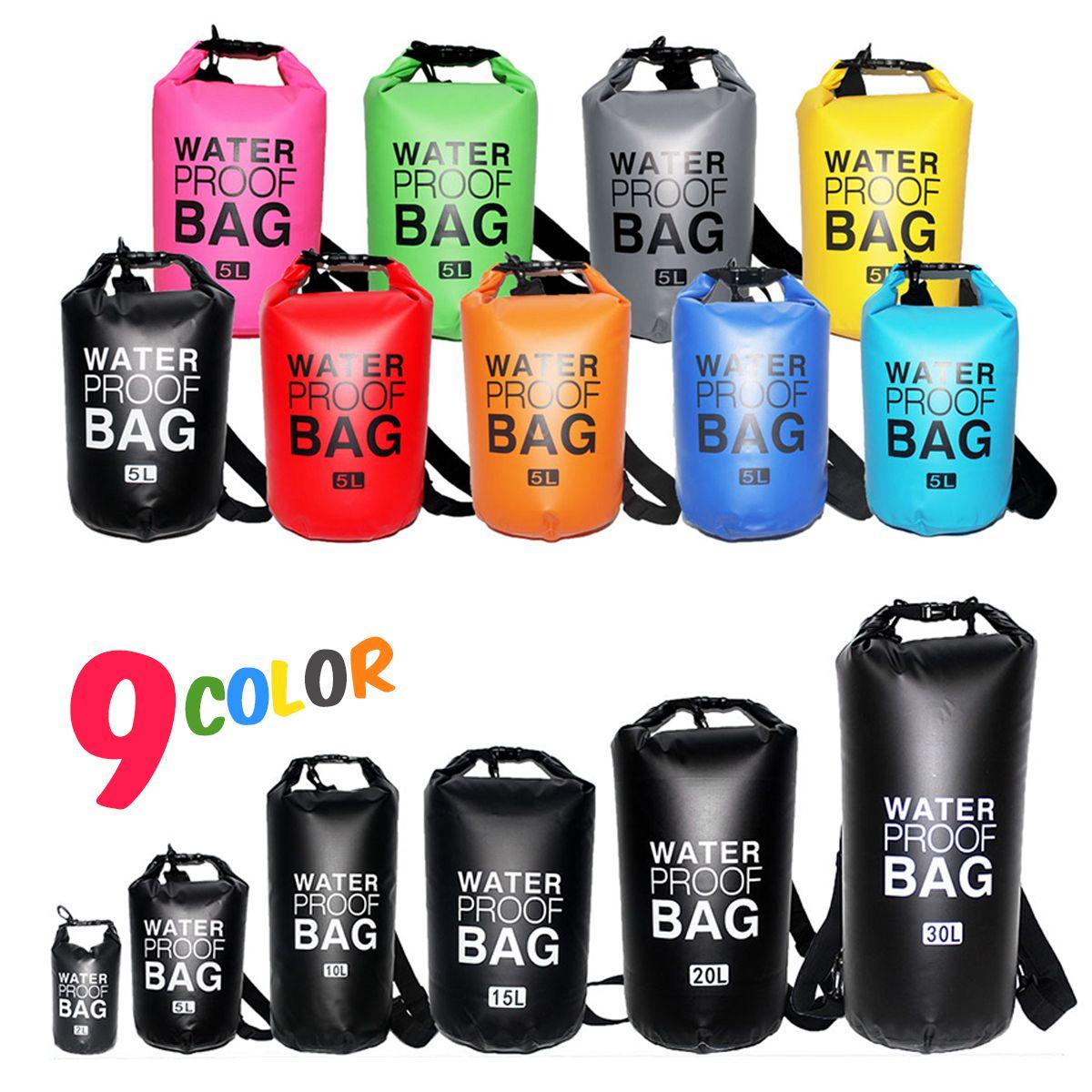 Grey Royal  Blue PVC 2L 5L 10L 15L 20L 30L Outdoor Diving Compression Storage Waterproof Bag Dry Bag For Man Women Swimm