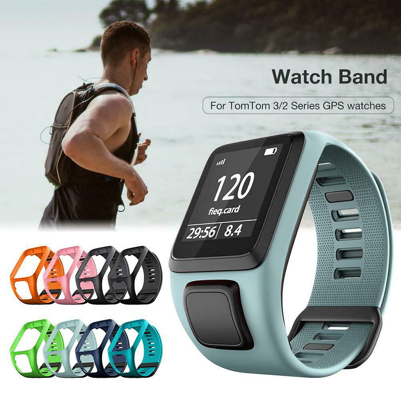 Silicone Smart Bracelet Strap For TomTom Runner 2 3 Spark3 Sport Running Replacement Strap Breathable Sweatproof GPS Watch Band
