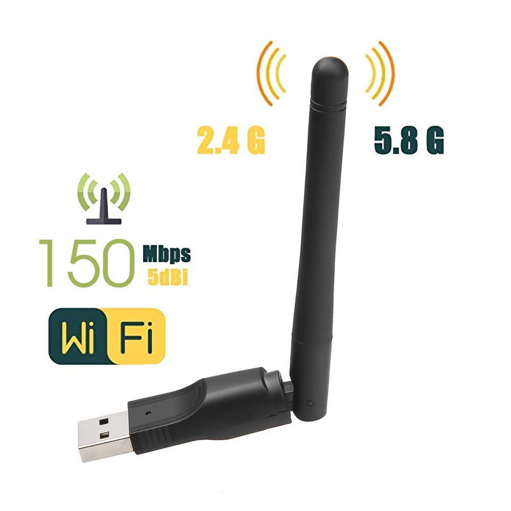 WIFI USB Adapter Network-Card Rotatable-Antenna MT7601 150mbps New Wireless with Usb-2.0 title=